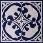 Elephant tiles, Khandallah, Wellington