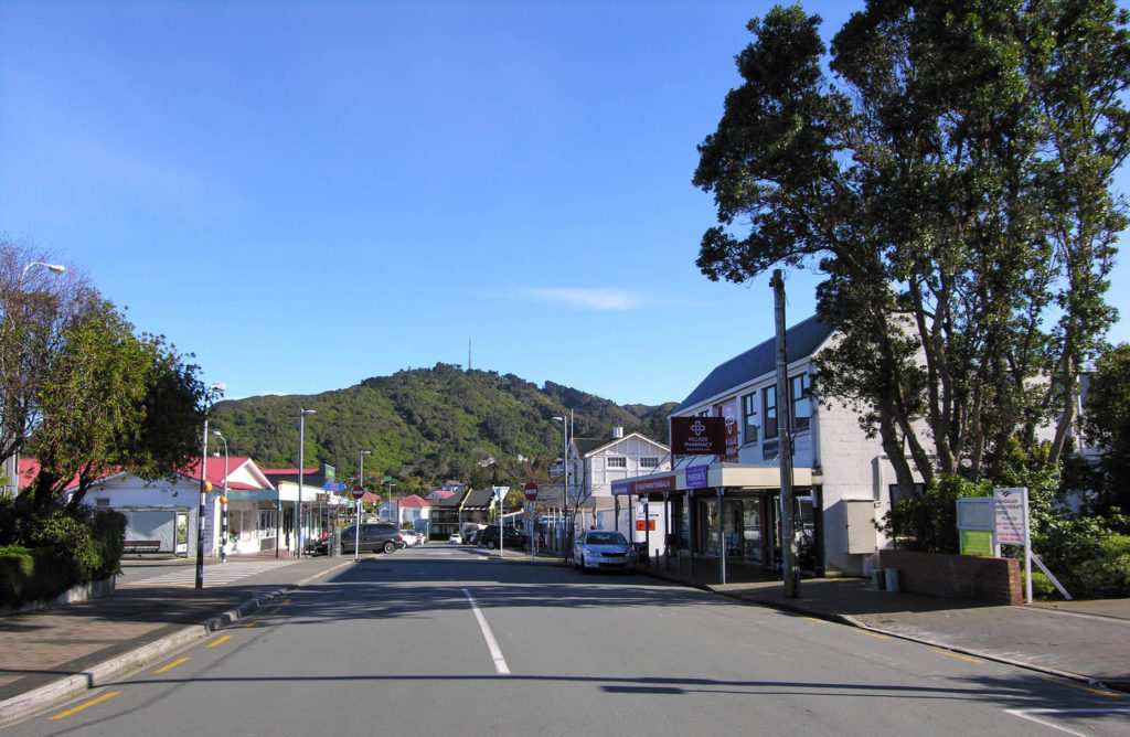 Mt Kaukau in the village, Khandallah, Wellington